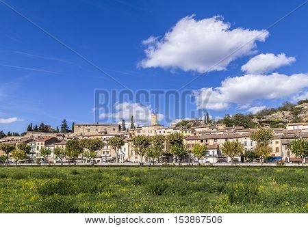 Scenic View Of Village Of Jouques In Southern France