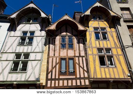 Timber-Framed Houses Troyes Aube Department Alsace Champagne-Ardenne Lorraine region France