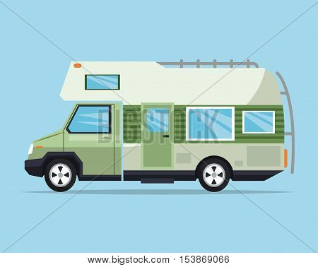 Campervan icon. Vehicle transportation travel and trip theme. Colorful design. Vector illustration