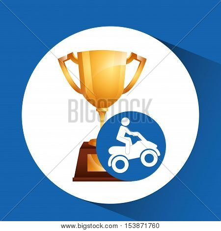 extreme sport avatar quad bike design vector illustration eps 10