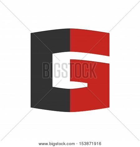 Bold G letter initial logo design, Bold G letter