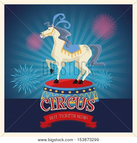 Horse icon. Carnival festival fair circus and celebration theme. Colorful design. Vector illustration