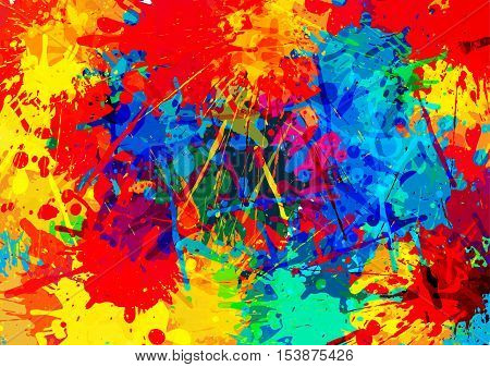 Multi Colored splatter background. illustration vector design