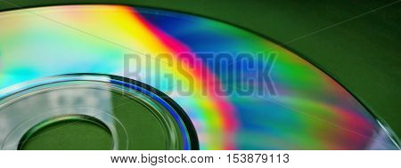 Abstract sun light spectrum on compact disk