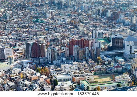 Tokyo city residence area, cityscape downtown background