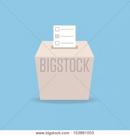 ballot box vote flat design vector, flat design eps10, business concept.