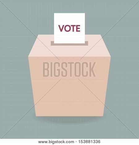 ballot box vote, flat design eps10, business concept.