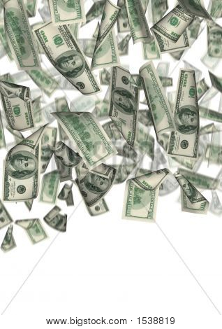Dollar Rain Isolated