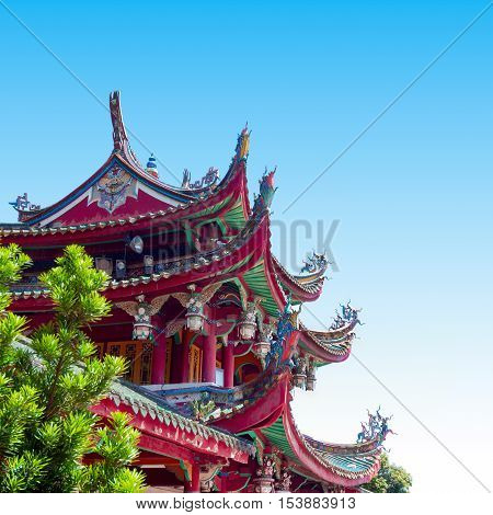 Historic Architecture of China. Forbidden City in Beijing China