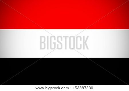 Yemen flag ,Yemen national flag illustration symbol.