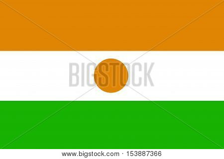 Niger flag ,Niger national flag illustration symbol.