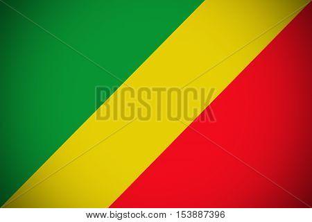 Republic of the congo flag ,Congo national flag illustration symbol.