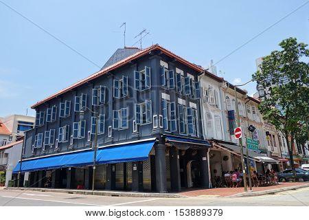 Street View Of Telok Ayer Street In Singapore