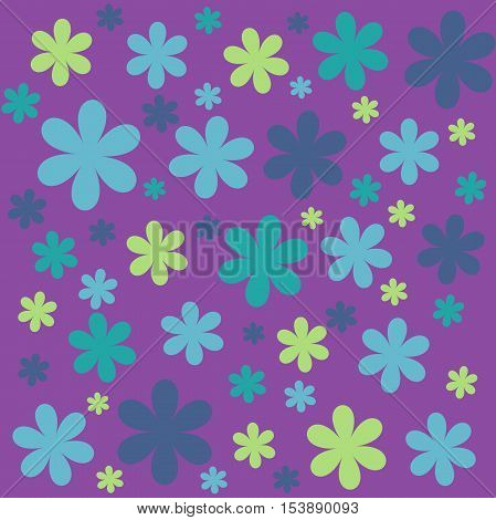 colorful flower pattern background with color flowers