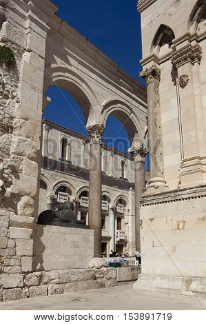 Historic city of Split Diocletian Palace Split Dalmatia Croatia