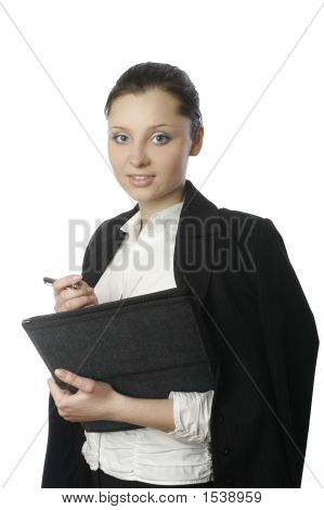Businesswoman With Documents 4