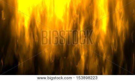 Digital Illustration Of A Fire
