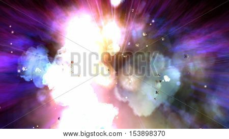 Digital Illustration Of An Explosion