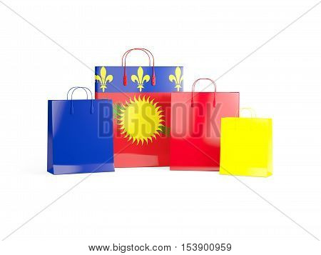 Flag Of Guadeloupe On Shopping Bags