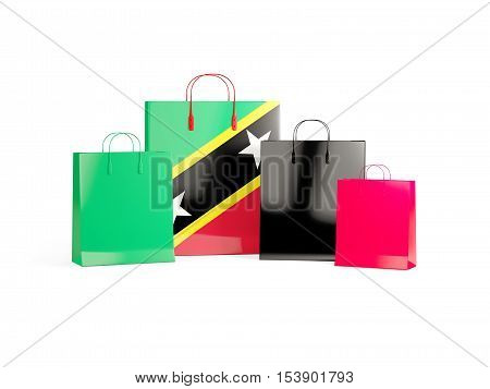 Flag Of Saint Kitts And Nevis On Shopping Bags