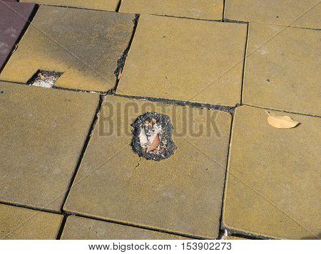 Rubber Floor Ground Around Children Playground Is Bend And Destroy Becuase High Temperature All Time