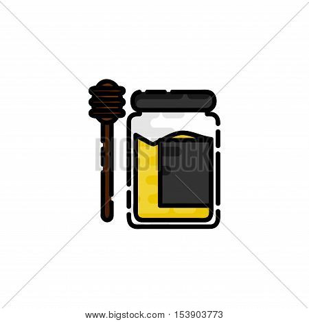 Allergy flat icon. Disease state, watering, allergy copper, the appearance of red spots and other. Vector illustration EPS 10