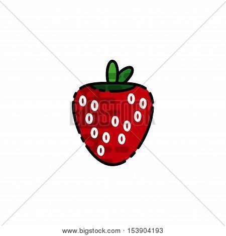 Allergy flat icon. Disease state, watering, allergy to fruits, the appearance of red spots and other. Vector illustration EPS 10
