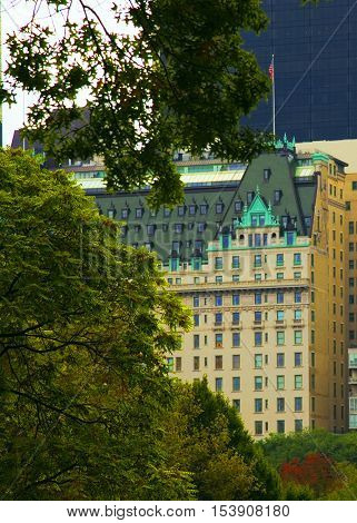 Plaza Hotel in 5th ave, Manhattan, New York, USA