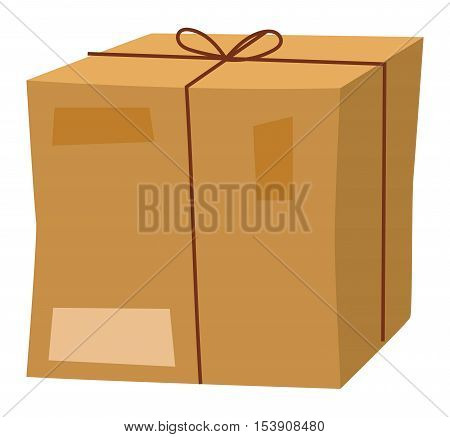 delivery box view cardboard container pack. Gift box carton package paper. delivery box receive icon. Some delivery box moving ox isolated