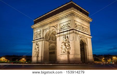 The Triumphal Arch is one of the most visited monuments in Paris. It hohors those who fought and died for France.