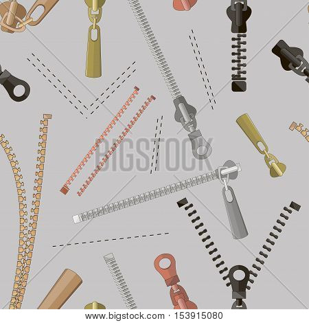 Zipper set pattern. Vector illustration EPS 10