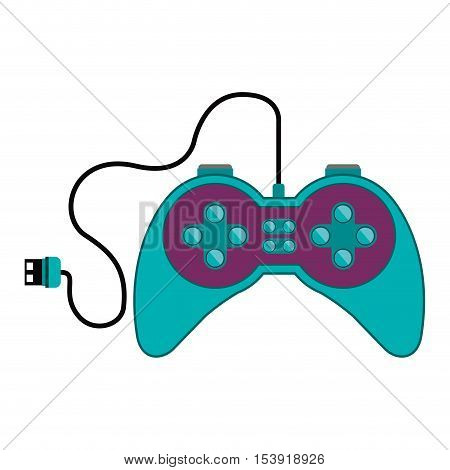 remote control games with usb connector vector illustration