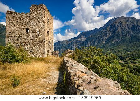 Ruins of Saint-Firmin castle (14th century medieval construction also known as