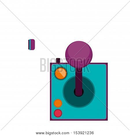 joystick with buttons for games vector illustration