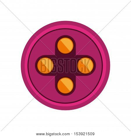 circular shape with yellow buttons for games vector illustration