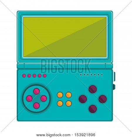 game cube remote control with screen and buttons vector illustration