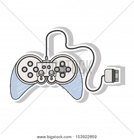 remote control games with joystick vector illustration