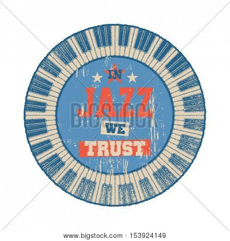 In Jazz we trust Cover design. Vector illustration.