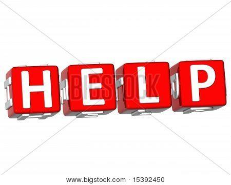 Help Cube Text