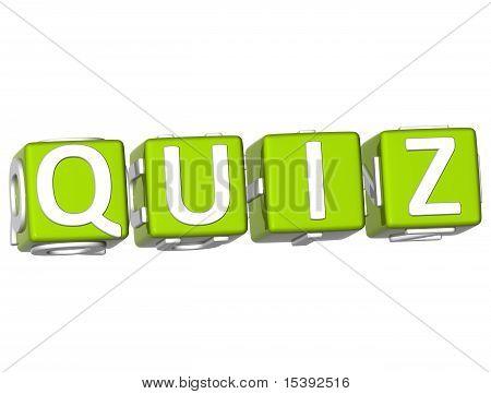Quiz Cube Text