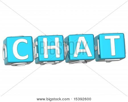 Chat Cube Text