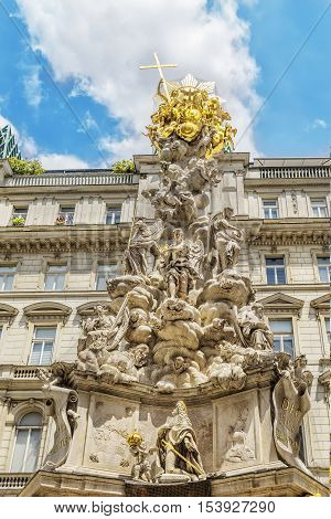 Plague Column In Vienna, Austria.