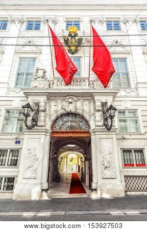 Winter Palace Of Prince Eugene Savoy In Vienna.