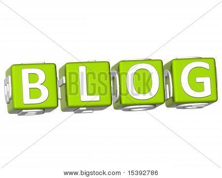 Blog Cube Text