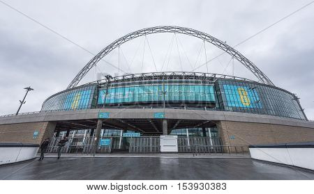 London, the UK - May 2016: Visiting Wembley stadium