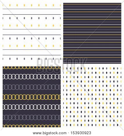 Set of seamless pattern. Vector set of cute retro pattern. Gentle, simple, concise patterns, backgrounds, textures, wallpaper. Polka dot fabric. Set of Scandinavian trend seamless pattern. Kid pattern