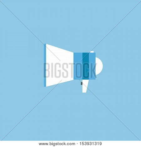 Mouthpiece icon Flat design style vector illustration. long shadow icon.