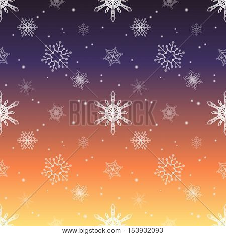 snowflake gradient sunset sky colour background christmas pattern tint layer wallpaper
