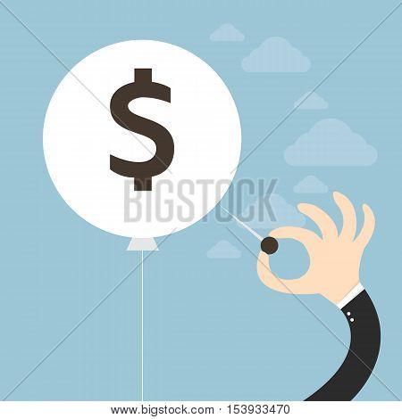 Financial Crisis Concept flat design eps10, business concept.