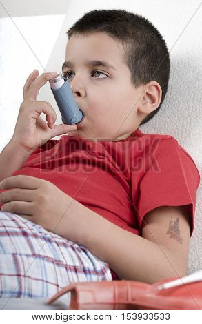 Inhaler for Asthma Child Vertical